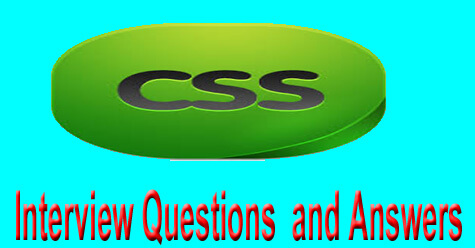 CSS Interview Questions and Answers for fresher, Experience